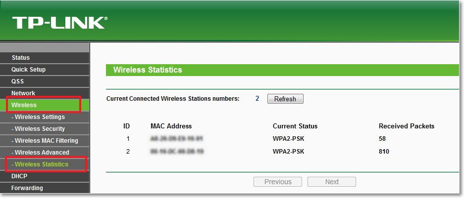 Wireless Statistics